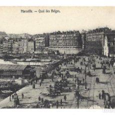 Postales: ANCIENNE POSTALE MARSEILLE.- QUAI DES BELGES. FRANCE- FRANCIA. Lote 129079983
