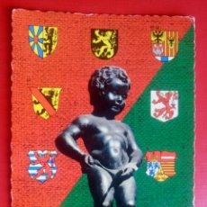 Postales: POSTAL SOUVENIR DE BRUXELLES RECUERDO DE BRUSELAS ESCRITA AÑO 1969 BELGICA. Lote 129560539
