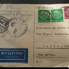 Postales: POSTAL COMERCIAL ORIGINAL - SELLO SVASTICA - ALEMAÑA NAZI. Lote 129711886