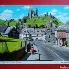 Postales: BONITA POSTAL IRLANDA CORFE VILLAGE AND CASTLE DORSET AÑOS 70. Lote 130825416