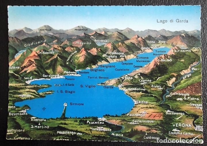Lago De Garda Mapa Usada Color Sold Through Direct Sale