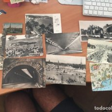 Postales: LOTE 9 POSTALES +LIBRITO MINIPOSTALES FRANCIA AÑOS 50. (CRIP2). Lote 131051144