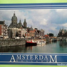 Postales: AMSTERDAM. 513 SINT NICOLAASKERK. NUEVA. COLOR. Lote 131219915