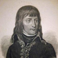Postales: GRABADO ANTIGUO POSTAL RETRATO DE NAPOLEÓN C. 1830 CON CERTIF. AUTENT. DOCUMENTOS ANTIGUOS. Lote 131334882