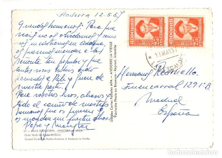Postales: Valls DAndorra. Andorra La Vella. Gran Studi de Radio Andorra. - Foto 2 - 172962032