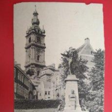 Postales: ANTIGUA POSTAL, MONS, MONUMENT DOLEZ ET LE BEFFROI, AÑO 1903. Lote 133181546