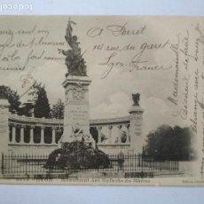 Postales: ANTIGUA POSTAL LYON - MONUMENT DES ENFANTS DU RHONE, CIRCULADA AÑO 1903. Lote 133556066
