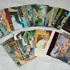 Postales: GRAN LOTE DE POSTALES SIN CIRCULAR - ITALIA, ROMA, VATICANO Y OTROS - MIRA LAS FOTOS - ENVÍO 24H. Lote 133618810