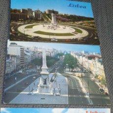 Postales: 3 POSTALES DE LISBOA PORTUGAL AÑOS 60. SIN ESCRIBIR. Lote 133857662