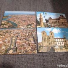 Postales: 4 POSTALES OPORTO PORTO (PORTUGAL) AÑOS 60. SIN ESCRIBIR. Lote 133858030