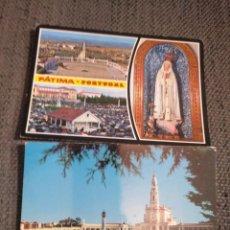 Postales: DOS POSTALES FÁTIMA PORTUGAL AÑOS 60. SIN ESCRIBIR. Lote 133858126