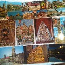 Postales: LOTE 10 POSTALES. NUEVAS SIN USO AÑOS 60-70 ALEMANIA. Lote 134414653