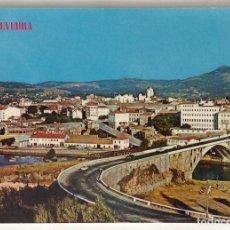 Postales: PONTEVEDRA VISTA PARCIAL Y PUENTE DE LA BARCA POSTAL MANUSCRITA MUY ANTIGUA. Lote 134713362
