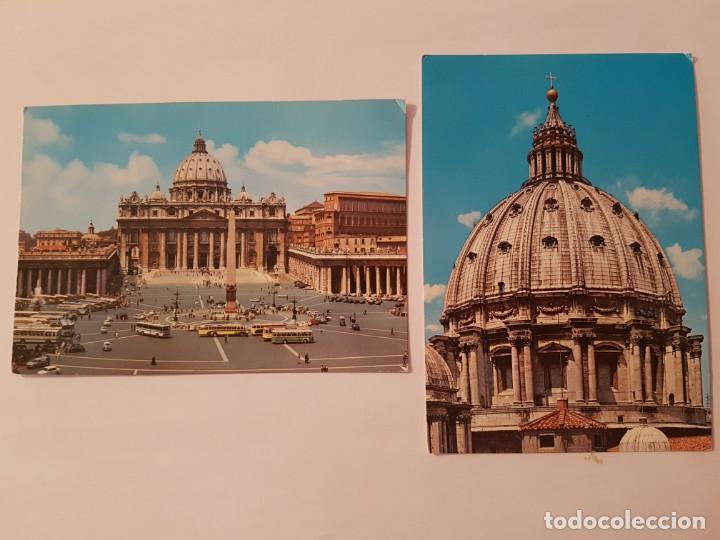 Postales: Lote de 6 postales años 70 Roma y Vaticano - Foto 2 - 134846290