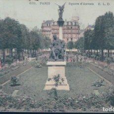 Postales: POSTAL PARIS - SQUARE D'ANVERS E L D - CIRCULADA. Lote 135092434