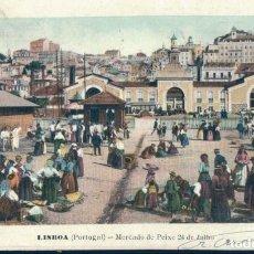 Postales: POSTAL LISBOA - PORTUGAL - MERCADO DE PEIXE 24 DE JULHO - MARTINS & SILVA. Lote 135257462