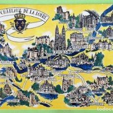 Castillos Del Loira Mapa.Mapa Con Los Castillos Del Loira Nueva Color Vendido En