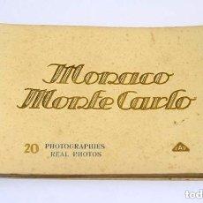Postales: ANTIGUO LIBRO DE POSTALES MONACO MONTECARLO CAP. Lote 135752346