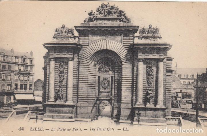 Postal Lille La Porte De Paris Buy Old Postcards From Europe At Todocoleccion 136573562