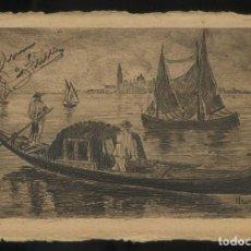 Postales: ITALIA. GRABADO DE VENECIA. FIRMA NO DESCIFRADA. CIRCULADA 1906.. Lote 137132370