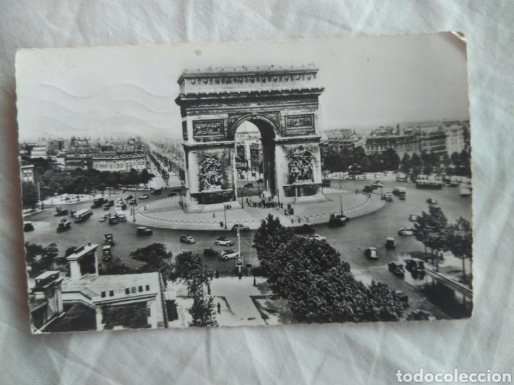 POSTAL PARÍS FRANCIA ARCO DEL TRIUNFO , CIRCULADA AÑO 1959 (Postales - Postales Extranjero - Europa)