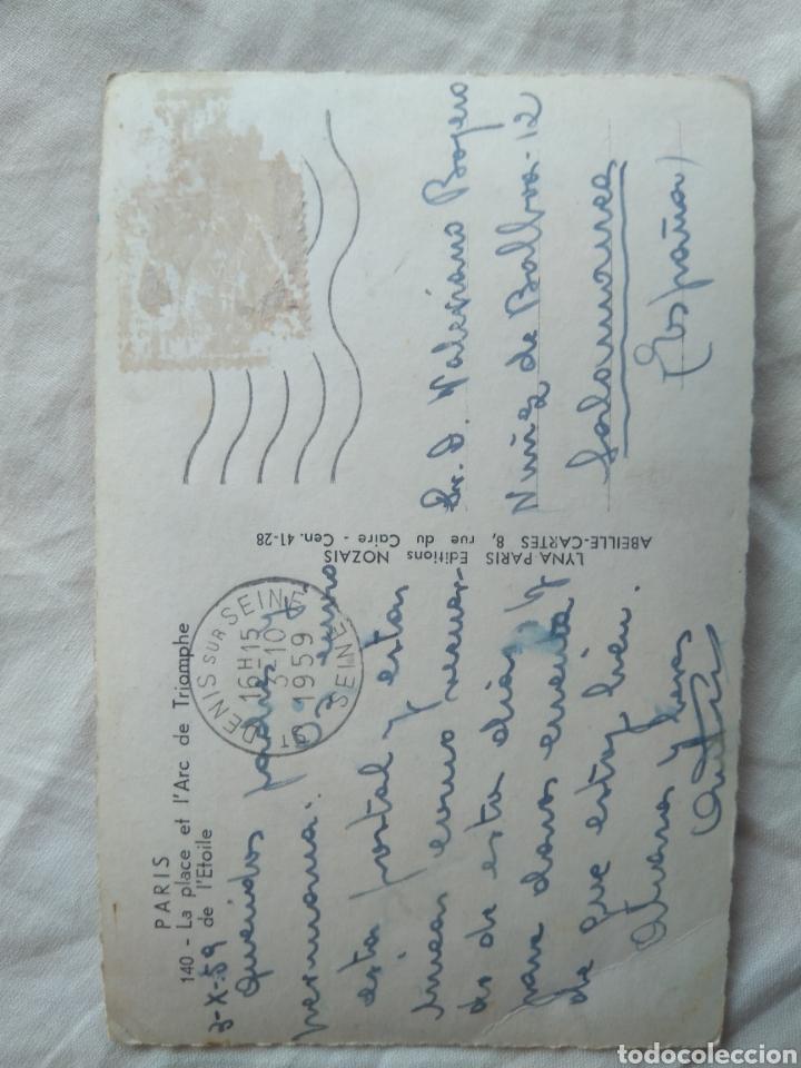 Postales: POSTAL PARÍS FRANCIA ARCO DEL TRIUNFO , CIRCULADA AÑO 1959 - Foto 2 - 137196928