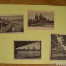 Postales: LOTE DE 4 TARJETAS POSTALES: COLONIA (KOLN, 1950'S) ¡SIN CIRCULAR! ¡ORIGINALES!. Lote 137438014