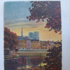 Postales: POSTAL. 30. PARIS. EN FLANANT. L'ILE SAINT-LOUIS. ED. YVON. NO ESCRITA. . Lote 137633206