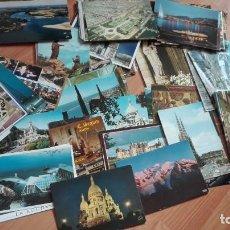 Postales: LOTE DE 115 POSTALES DE FRANCIA DE DISTINTAS CIUDADES, PARIS , TOULOUSSE, BIARRITZ, FATIMA, PIRINEOS. Lote 138665994