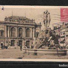 Postales: FRANCIA 1930 TARJETA POSTAL DE MONTPELLIER CIRCULADA A COLOMBIA . Lote 139176866