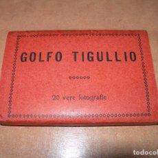 Postales: LIBRILLO RECUERDO GOLFO TIGULLIO CON 20 FOTOGRAFÍAS EN BLANCO Y NEGRO - ANGELI AÑOS 40 -. Lote 140045358