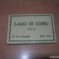 Postales: ESTUCHE RECUERDO LAGO DI COMO CON 20 FOTOGRAFÍAS EN BLANCO Y NEGRO - BRUNNER AÑOS 40 -. Lote 140045746