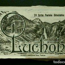 Postales: LUCHON (FRANCIA) (1920) ALBUM BLOK CON 13 POSTALES- LES PYRENEES CENTRALES-1ª SERIE- LABOUCHE TERMAS. Lote 140222658