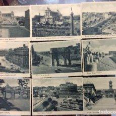 Postales: CONJUNTO DE 20 POSTALES DE ROMA 1935. Lote 140754254