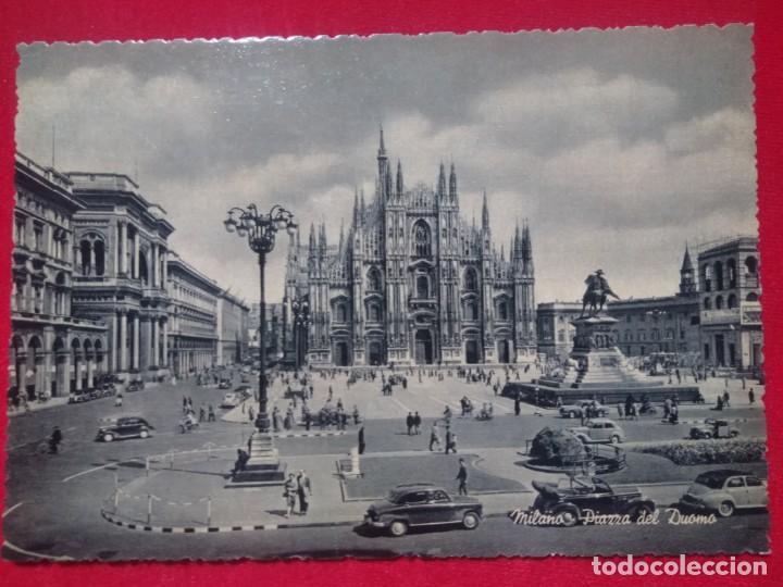 POSTAL FOTOGRAFICA MILAN MILANO PIAZZA DEL DUOMO PLAZA DEL DUOMO EDIZ RINUP SIN CIRCULAR (Postales - Postales Extranjero - Europa)