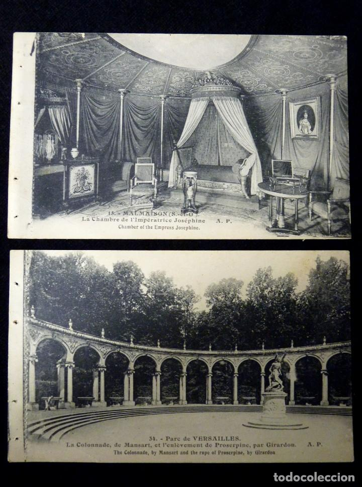 LOTE 2 ANTIGUAS POSTALES E. PAPEGHIN, PARIS. Nº 34, PARC VERSAILLES. Nº 15, MALMAISON. CIRCA 1900. S (Postales - Postales Extranjero - Europa)