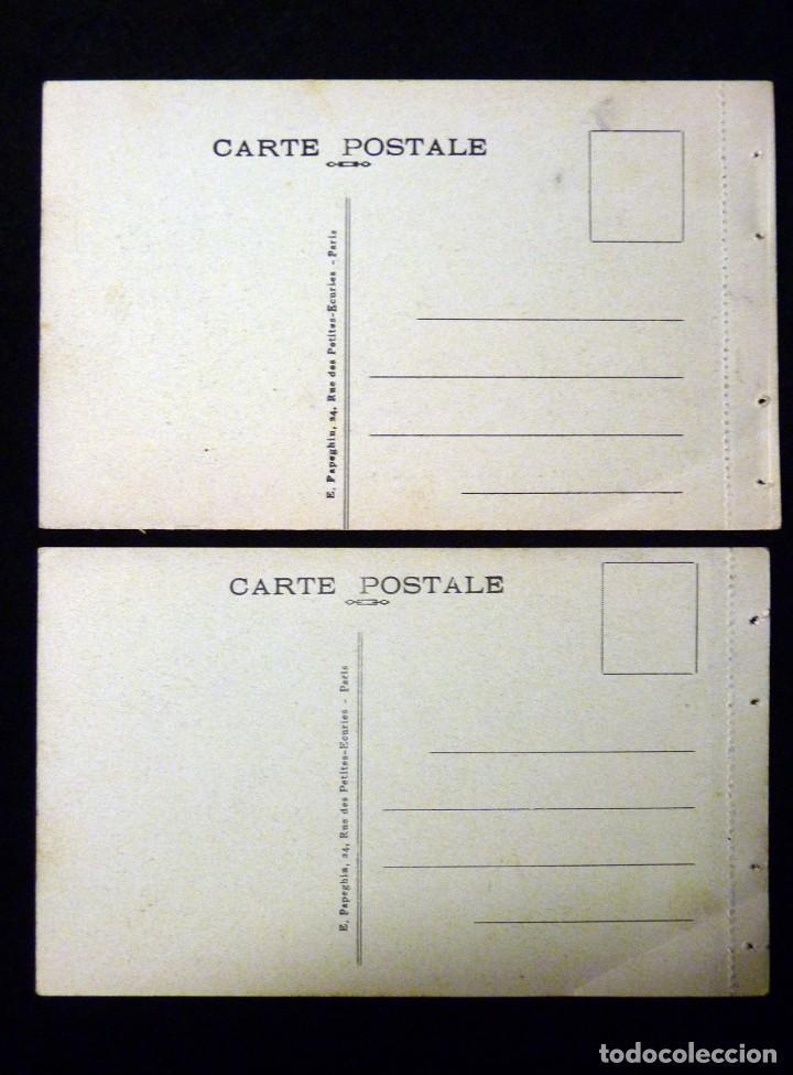 Postales: LOTE 2 ANTIGUAS POSTALES E. PAPEGHIN, PARIS. nº 34, PARC VERSAILLES. nº 15, MALMAISON. CIRCA 1900. S - Foto 2 - 142026222