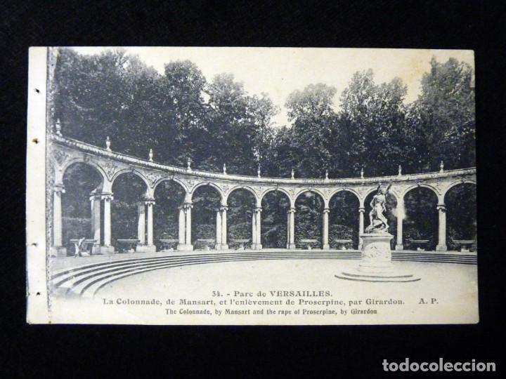 Postales: LOTE 2 ANTIGUAS POSTALES E. PAPEGHIN, PARIS. nº 34, PARC VERSAILLES. nº 15, MALMAISON. CIRCA 1900. S - Foto 5 - 142026222