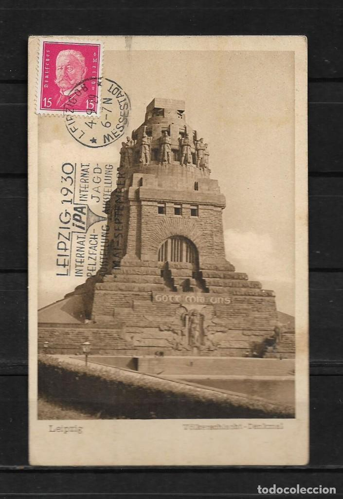 ALEMANIA 1929 TARJETA POSTAL CIRCULADA DE LEIPZIG A COLOMBIA (Postales - Postales Extranjero - Europa)