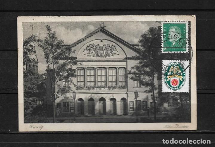 ALEMANIA 1930 TARJETA POSTAL CIRCULADA DE LEIPZIG A COLOMBIA (Postales - Postales Extranjero - Europa)