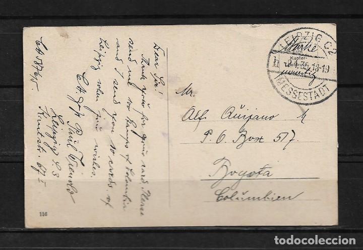 Postales: Alemania 1930 Tarjeta postal circulada de Leipzig a Colombia - Foto 2 - 142072254