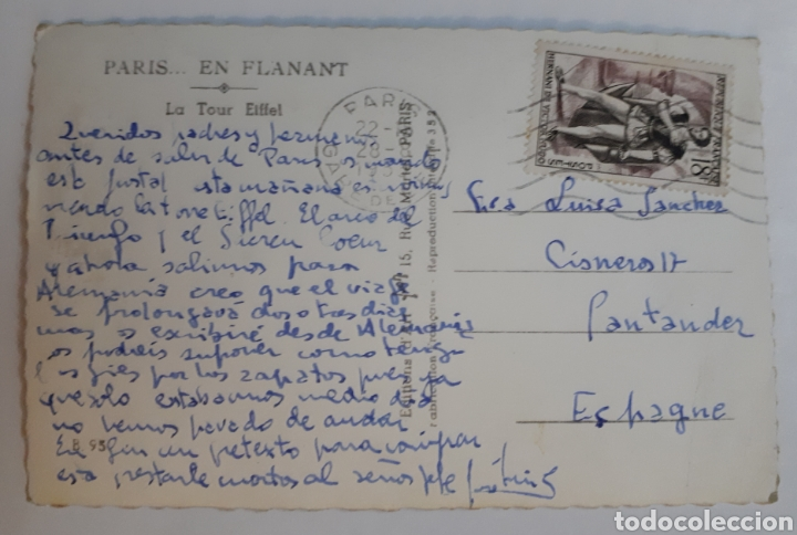 Postales: PARIS... EN FLANANT. La Tour Eiffel - Foto 2 - 142830032