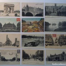 Postales: PARIS * LOTE DE 12 ANTIGUAS POSTALES * P-2. Lote 142944842