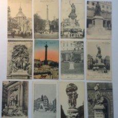 Postales: PARIS * LOTE DE 12 ANTIGUAS POSTALES * P-3. Lote 142944990