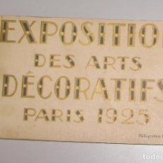 Postales: CARPETA COMPLETA DE POSTALES **EXPOSITION DES ARTS DECORATIFS PARIS 1925. Lote 142973062