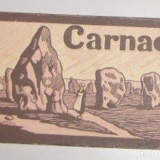 Postales: CARPETA BLOC DE POSTALES ** CARNAC **. Lote 142975346