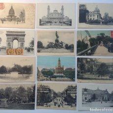 Postales: PARÍS * LOTE DE 12 ANTIGUAS POSTALES * P-3. Lote 142981594