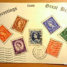 Postales: POSTAL POST CARD DE 1963 ESCRITA. Lote 143101794