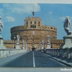 Postales: POSTAL DE ROMA ( ITALIA ) : PUENTE Y CASTILLO DE SAN ANGELO . AÑOS 60.. Lote 143113782