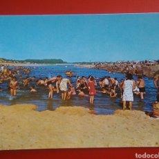 Postales: POSTAL PRAIA DA VIERA PORTUGAL BAÑISTAS EN LA RIVERA DE LA FLOR DE LIS. Lote 143710974